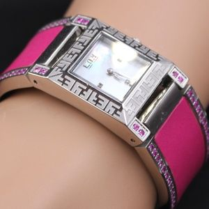 Diamond Pink Sapphire 2.76 tcw Watch